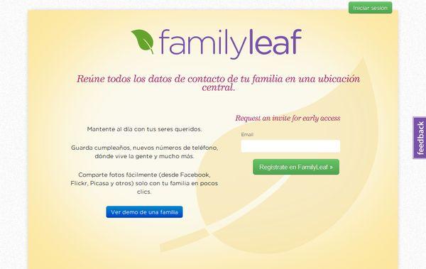 FamilyLeaf red social familia