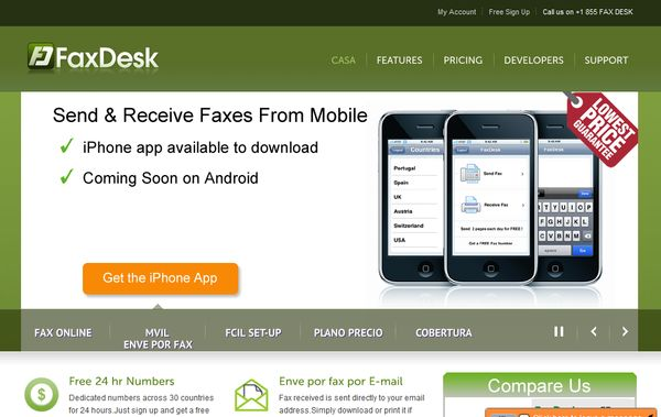 FaxDesk enviar fax por internet