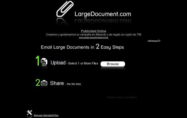 LargeDocument compartir archivos
