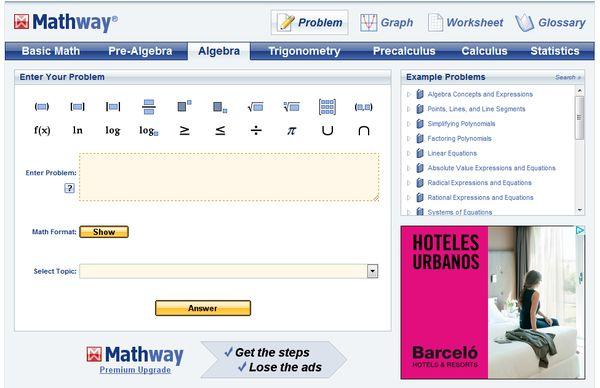 Mathway matematicas