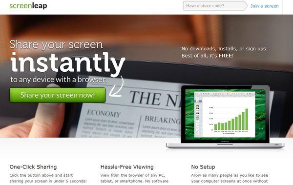 Screenleap compartir escritorio