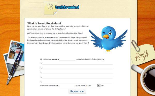 TwittRemind recordatorio twitter