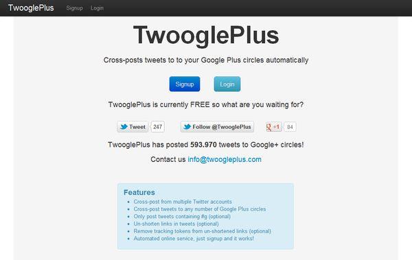 TwooglePlus google+