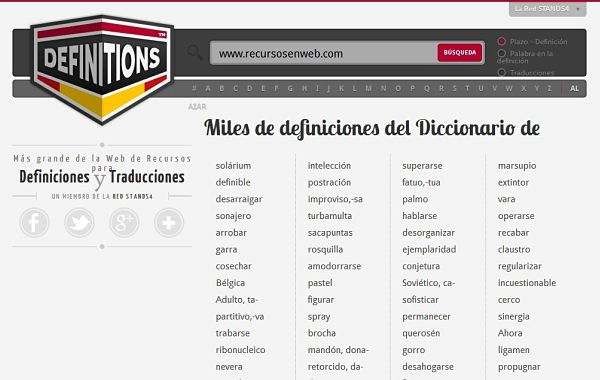 Definitions significado pronunciacion