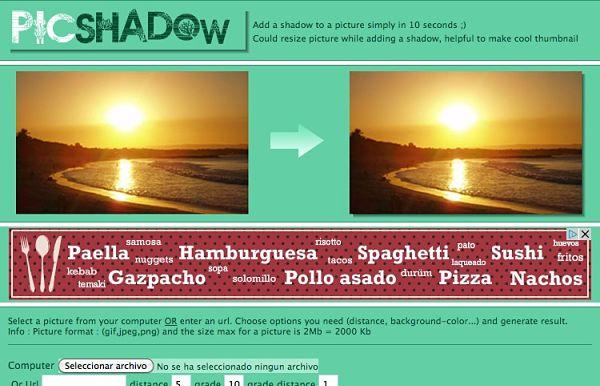 PicShadow sombras fotos