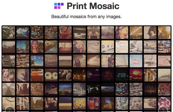 Print Mosaic Dropbox Instagram Facebook