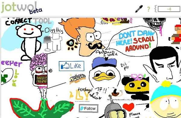 Jotwol pizarra online dibujar