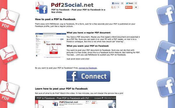 Pdf2Social facebook pdf