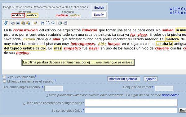 SpanishChecker