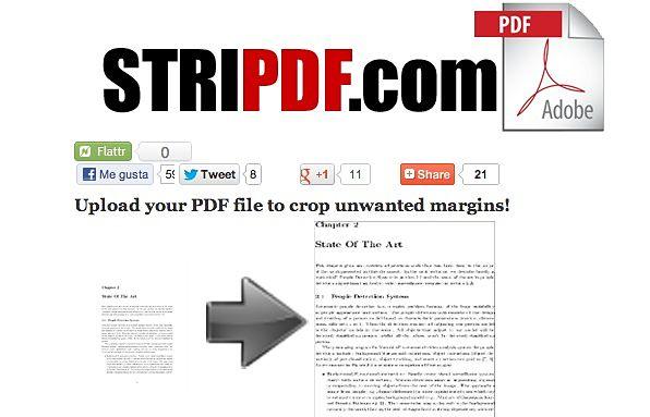 StriPDF recortar margenes pdf