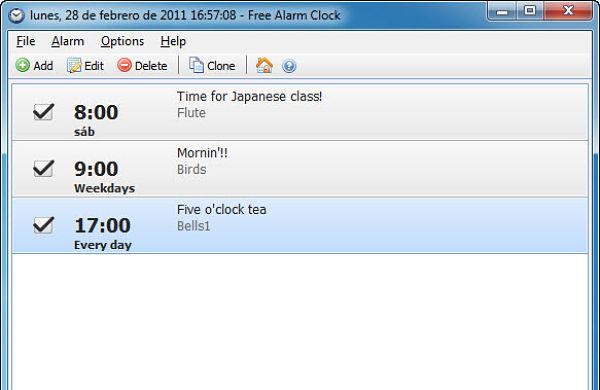 Free Alarm Clock alarmas