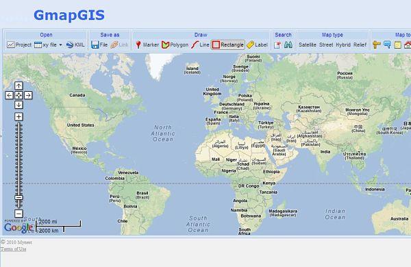 GmapGIS dibujar mapa google