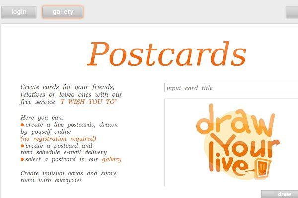 I wish you postales