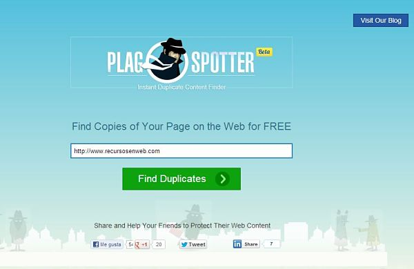 Plagspotter copia blog