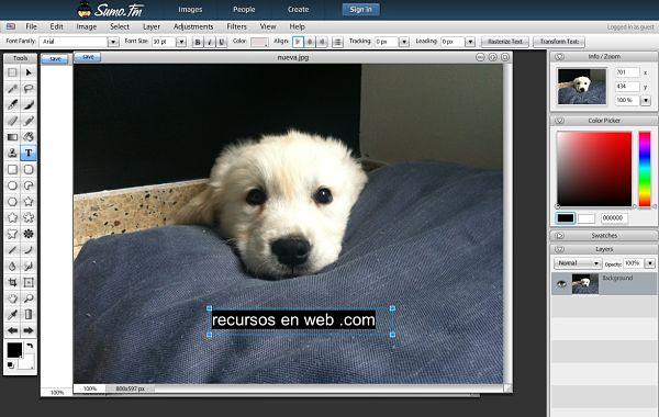sumo editor imagenes online