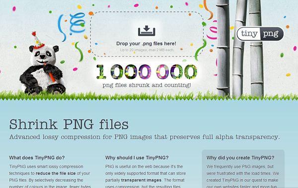 TinyPNG comprimir imagenes sin perder calidad
