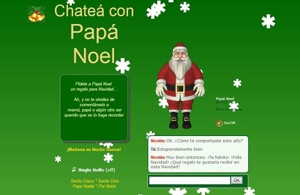 Chatea con Papa Noel