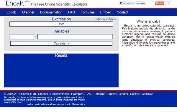 Encalc calculadora cientifica