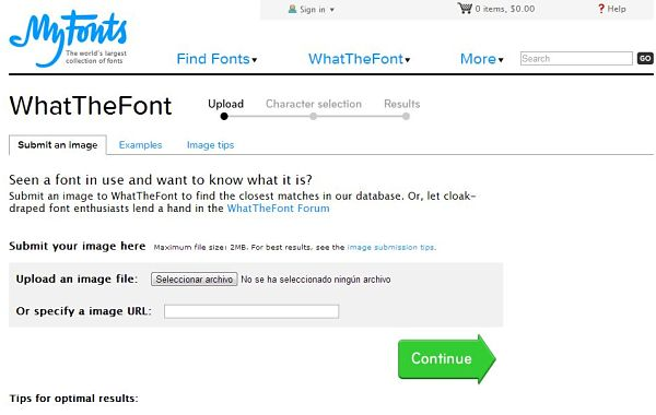 WhatTheFonts tipografia