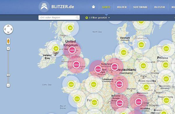 blitzer mapa control velocidad radares