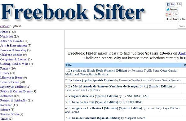 Freebook Sifter libros gratis
