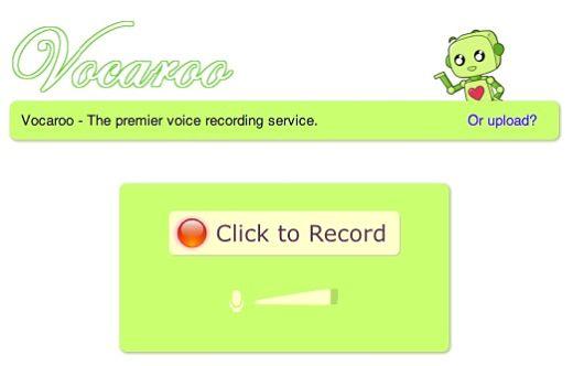 Vocaroo grabar mensajes voz
