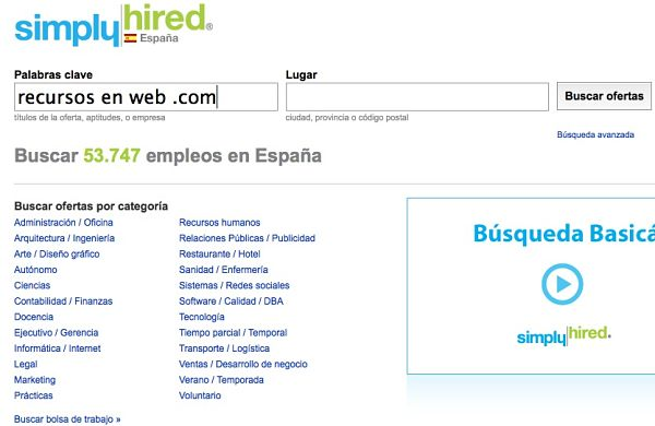 Simply Hired empleo