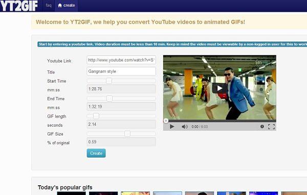 YouTube to GIF