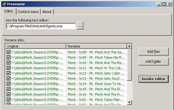 Freename renombrar archivos