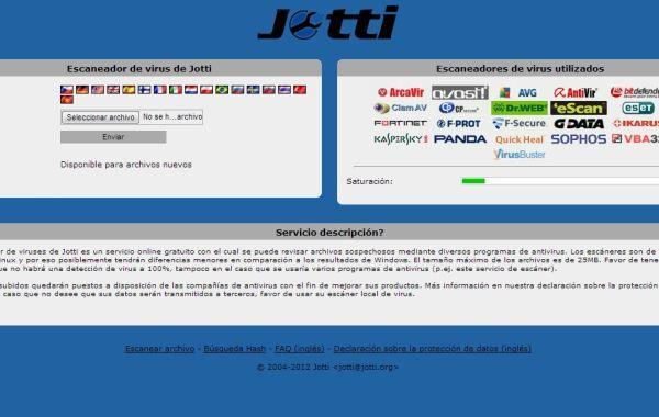 Jotty escanear archivos virus