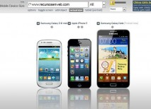Mobile Device Size comparador tamaño smartphones tablets