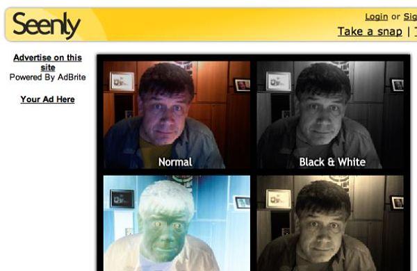 Seenly webcam fotos efectos