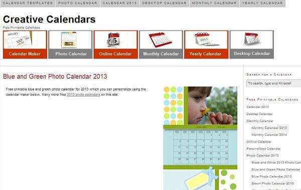 Creative Calendars crear calendarios imprimir