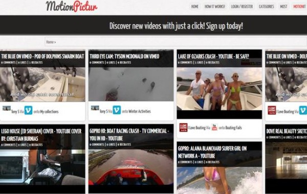 MotionPictur red social videos youtube vimeo