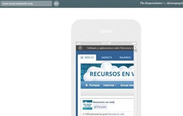 The Responsinator paginas webs