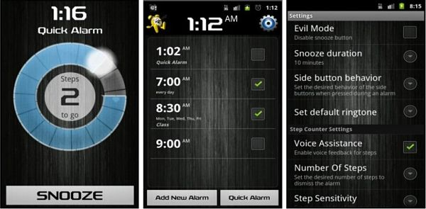 alarma despertador android walk me up