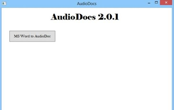 AudioDocs convertir word audio
