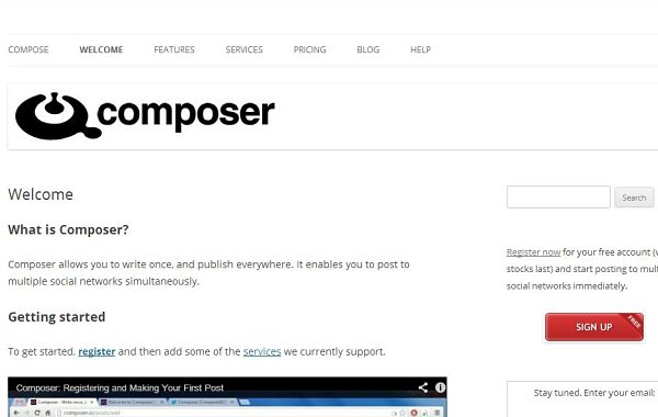 Composer redes sociales