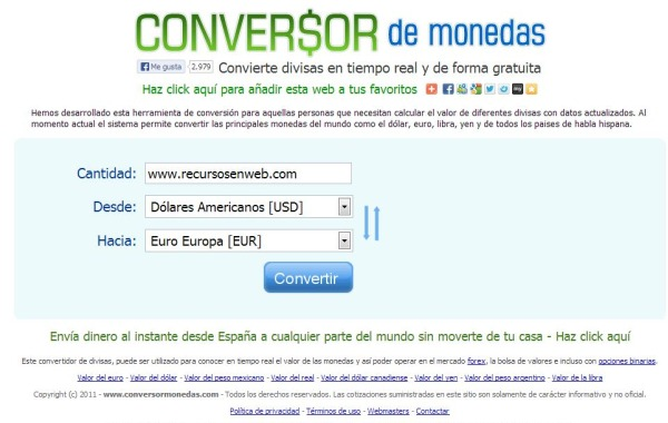 Conversor De Monedas
