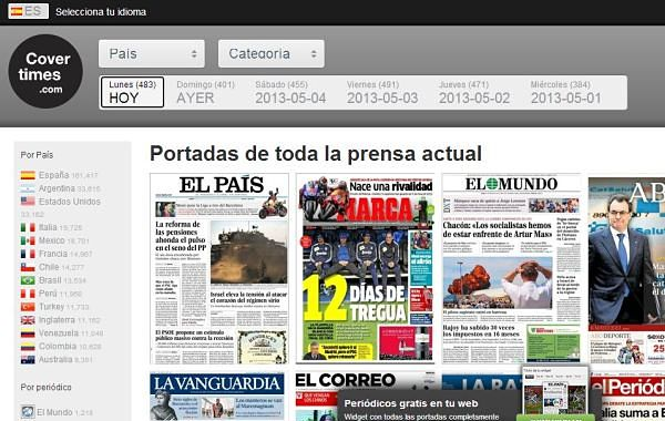 Covertimes portadas prensa