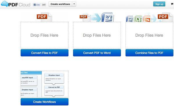 EasyPDFCloud pdf convertir