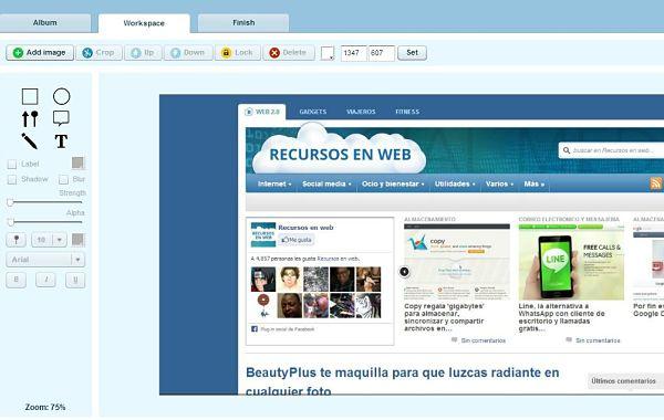 Pixtick capturas pantalla