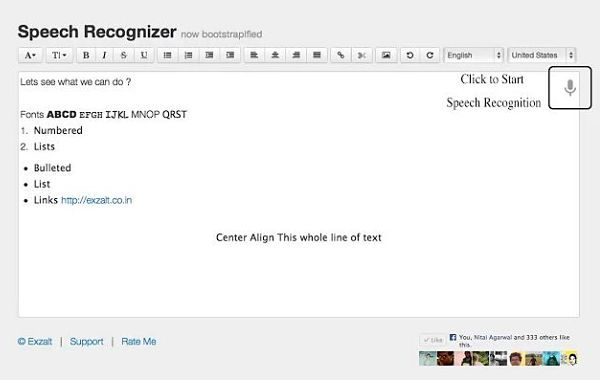 Speech Speech Recognizer voz texto chrome