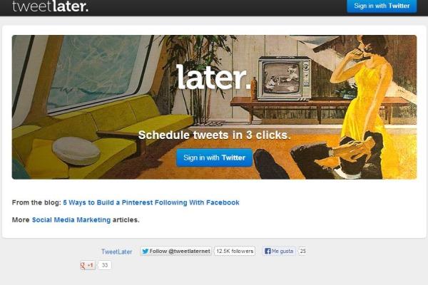 Tweetlater programar twitter