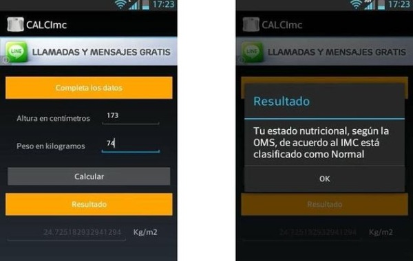 CALCImc calcular-IMC Android