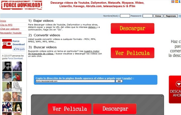 Force Download descargar videos online