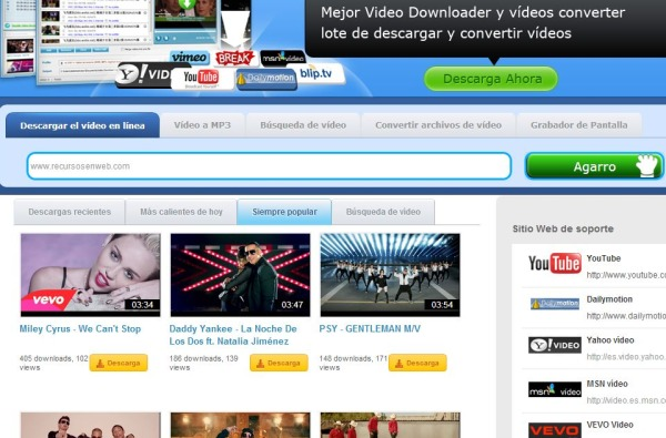 Video Grabbe descargar videos