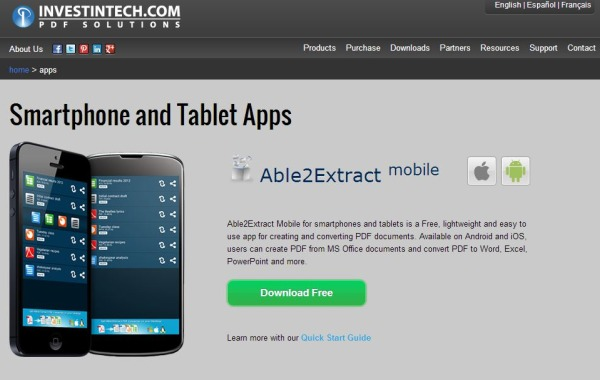 Able2Extract PDF iOS Android