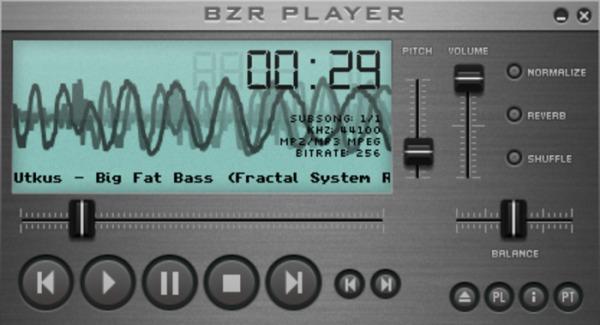 BZR Player reproductor audio Windows
