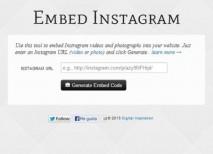 Embed Instagram insertar fotos videos blog